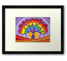 Rainbow Boab Tree of Life Framed Print