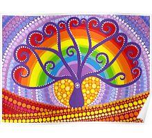Rainbow Boab Tree of Life Poster
