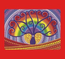 Rainbow Boab Tree of Life Baby Tee