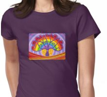 Rainbow Boab Tree of Life Womens Fitted T-Shirt