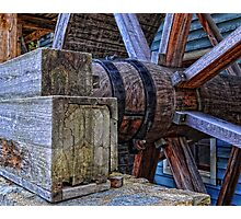 Tagget's Mill Water Wheel Photographic Print