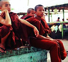 The young monks of Myanmar by PriscillaSiew