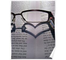 Glasses Heart Poster