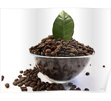 Bowl of Coffe Beans Poster