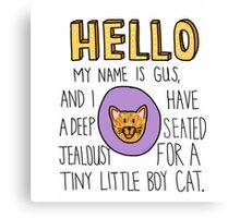 Psych- Little Boy Cat Canvas Print