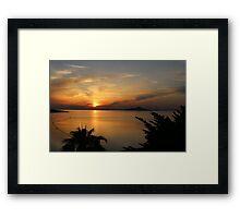 Sunset, La Manga Del Mar Menor, Spain Framed Print
