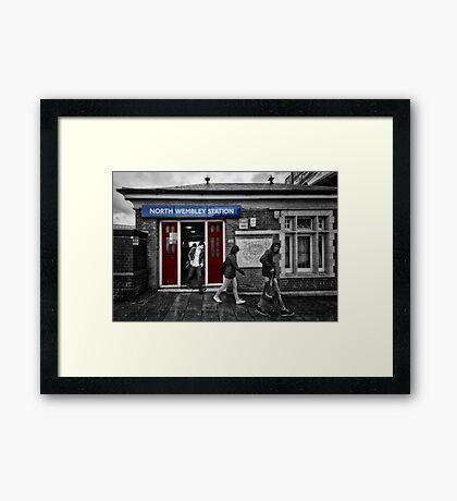 North Wembley Tube Station Framed Print