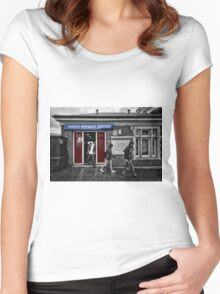 North Wembley Tube Station Women's Fitted Scoop T-Shirt