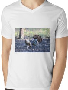 Mr. And Mrs. Turkey Mens V-Neck T-Shirt