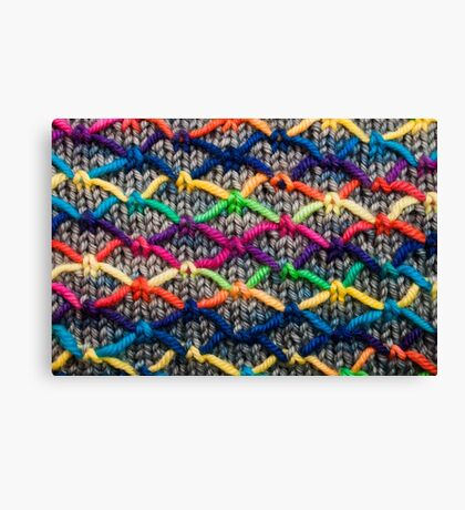 Knitting Aesthetic   Canvas Print