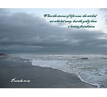 Storm Rushes In, Atlantic Beach Photographic Print