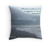 Storm Rushes In, Atlantic Beach Throw Pillow