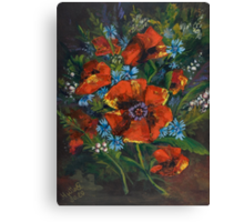 Poppies and Wildflowers no. 2 - Gifts of Nature... Canvas Print