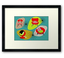 Modern Mid-Century Retro Chair Illustations Framed Print