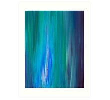 IRRADIATED BLUE Colorful Fine Art Indigo Teal Turquoise Modern Abstract Acrylic Painting Art Print