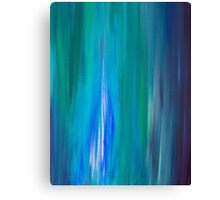 IRRADIATED BLUE Colorful Fine Art Indigo Teal Turquoise Modern Abstract Acrylic Painting Canvas Print