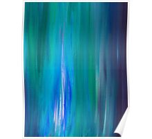 IRRADIATED BLUE Colorful Fine Art Indigo Teal Turquoise Modern Abstract Acrylic Painting Poster