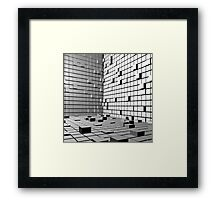 3D Cubes Background  Framed Print
