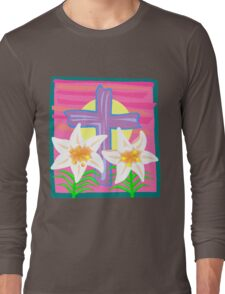 Jesus Easter Cross Long Sleeve T-Shirt