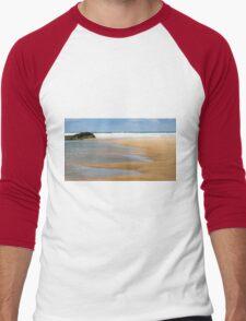 Bedruthan Beach,North Cornwall Men's Baseball ¾ T-Shirt