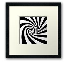 Black and White Vortex Framed Print