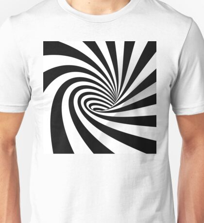 Black and White Vortex Unisex T-Shirt