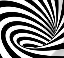 Black and White Vortex Sticker