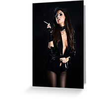 High Fashion Girl Fine Art Print Greeting Card