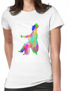 Mad Hatter Water Colour Womens Fitted T-Shirt