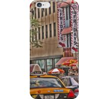 Cabs stream past TGI Fridays on 5th Ave iPhone Case/Skin