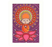 Jizo Meditating upon a Ruby Lotus Art Print
