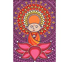 Jizo Meditating upon a Ruby Lotus Photographic Print