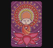 Jizo Meditating upon a Ruby Lotus One Piece - Short Sleeve