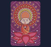 Jizo Meditating upon a Ruby Lotus Kids Tee