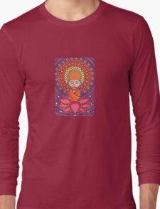 Jizo Meditating upon a Ruby Lotus Long Sleeve T-Shirt