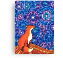 Star Gazing Fox Canvas Print