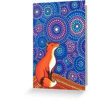Star Gazing Fox Greeting Card