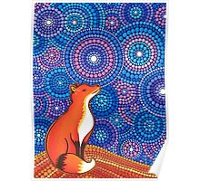 Star Gazing Fox Poster