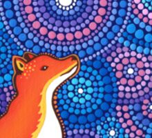Star Gazing Fox Sticker