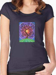 Spiralling Tree of Life Women's Fitted Scoop T-Shirt