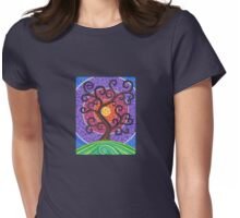 Spiralling Tree of Life Womens Fitted T-Shirt