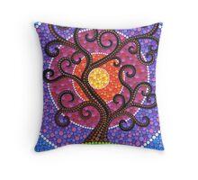 Spiralling Tree of Life Throw Pillow