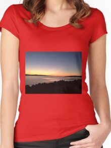 Pink Ocean Sunset Women's Fitted Scoop T-Shirt
