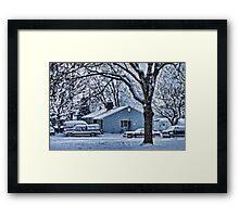 First Snowstorm Framed Print
