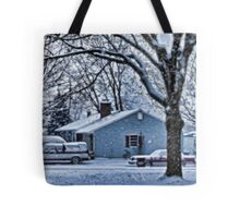First Snowstorm Tote Bag