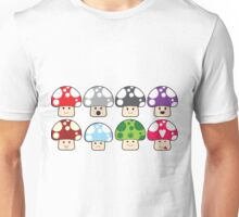 Colourful Mushrooms! Unisex T-Shirt