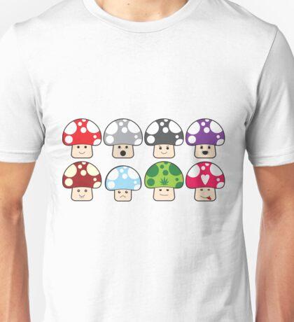 Colourful Mushrooms! Unisex T-Shirt