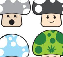 Colourful Mushrooms! Sticker