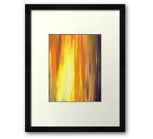 IRRADIATED YELLOW Colorful Fine Art Sunshine Yellow Warm Gold Orange Violet Modern Abstract Acrylic Painting Framed Print
