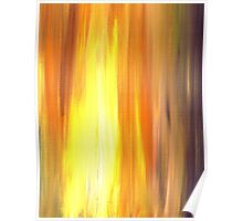 IRRADIATED YELLOW Colorful Fine Art Sunshine Yellow Warm Gold Orange Violet Modern Abstract Acrylic Painting Poster